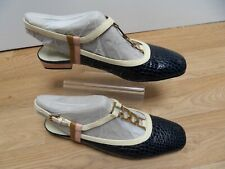 Orla Kiely For Clarks Ladies Leather Patent Summer Shoes UK Size 8d