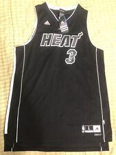 Adidas Dwyane Wade Miami Heat Alternate Black Jersey Size L New With Tags