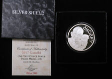 2017 GANDHI, 1 TROY OZ. SILVER PROOF MEDALLION SILVER SHIELD W/BOX & COA