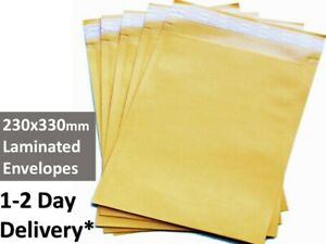 100x Premium Business Envelope #04 230x330mm  - 110gsm Kraft Laminated Paper A4