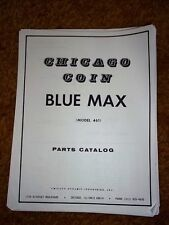 Blue Max 1975 Chicago Coin Parts Catalogue