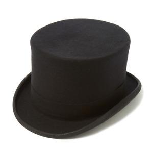 "Christys' Topper Wool Felt Top Hat - 5.25"" (approx) crown - Black"