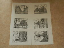 Kunstdrucke / Grafiken - 6 verschiedene Motive von Frankfurt am Main