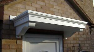 GRP Door Canopy The Mews White. Fixings & Fitting Instructions Included