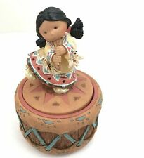 Friends of The Feather Figurine Enesco Harmony Girl With Flute 1995 171778