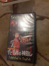 Spirited Away (Vhs) / Anime / Fantasy / Japanese Language / English Subtitles