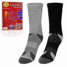 genovega heated thermal winter socks 2 pairs black+ grey size 10-13
