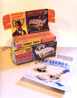 CORGI. 261. JAMES BOND - ASTON MARTIN.DB5. Superb repro box tray + instructions