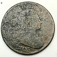 1805 1C DRAPED BUST LARGE CENT COPPER  U.S. COIN.