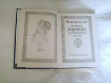 Livre de chansons pour enfants de Maria Rühn écrit en allemand de 1940