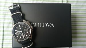 Bulova Lunar Pilot Moon Watch 96A225 UHF NASA Precisionist chronograph pilot's