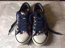 Ladies F&F Size 3 Floral Canvas Shoes