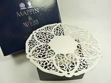 MAPPIN & WEBB Plaque Argent-faible tazza / CONDUIRE / gâteau stand-coeurs