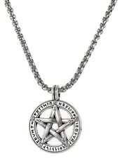 Protection Celtic Knot Pentagram with Rune Symbol Charm Pendant Necklace