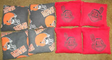 Cleveland Indians & Cleveland Browns Cornhole Bags Official Size Red Orange 8