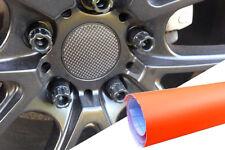 4x Alufelgen Felgen Naben Deckel Design Folie Orange Matt für viele Fahrzeuge