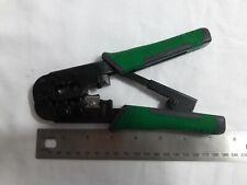 Green Commercial Electric Ratchet Modular Plug Crimper Tool