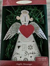 Hallmark 1999 Angelic Messenger Laser Gallery Angel Christmas Ornament