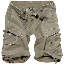 Brandit Vintage Style Classic Mens Combat Cargo Summer Shorts Cadet Hiking Olive