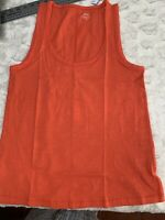 J.Crew Vintage Cotton Tank Top- Womens Medium-Coral Brand New  Sleeveless