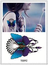 Butterfly Temporary Tattoo Sticker DIY Keep 3-5 days Waterproof 14x9cm TS092