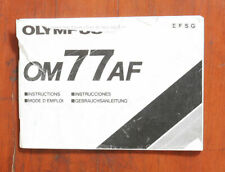 OLYMPUS OM77AF INSTRUCTION BOOK/116859
