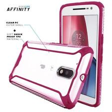 For Moto G4 / Moto G4 Plus Case Pink Poetic【Affinity】Soft Shockroof TPU Cover
