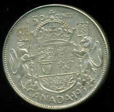 1952 2xHP Canada King George VI, Silver Fifty Cent Piece  L31