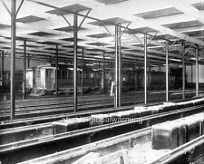 Old Photo. Montreal, Canada. Inside of Tram Car Barn