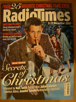RADIO TIMES DOCTOR WHO 3rd DECEMBER 2011 MATT SMITH WITH SECRETS OF CHRISTMAS