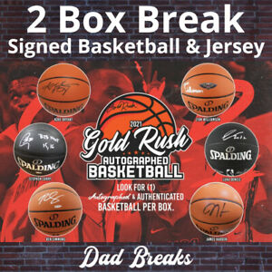 LOS ANGELES LAKERS autographed Gold Rush basketball + signed jersey: 2 BOX BREAK