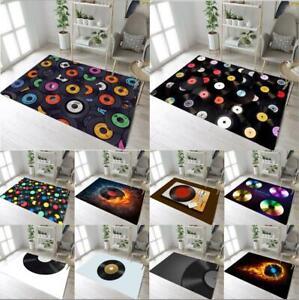 Vintage Vinyl Records CD Yoga Carpet Floor Crawling Mat Bedroom Decor Area Rugs