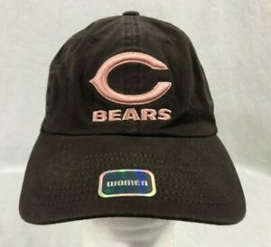 Chicago Bears Womens Strapback Hat Cap Brown Pink NFL New Without Tags