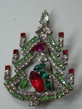 Christbaum Strass Brosche Weihnachtsbaum Christmas tree Brooch Gablonz Nr.308