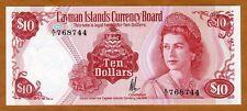 Cayman Islands, $10, L. 1974 (1985), P-7a, A/1, QEII, UNC