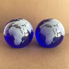 2 Stück Paperweight / Briefbeschwerer  Glas Kugel,Weltkugel, Globus   7,5cm