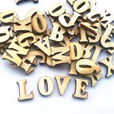 100pcs Plain Hand Craft 15mm Letter Alphabet Nonporous Wooden Buttons
