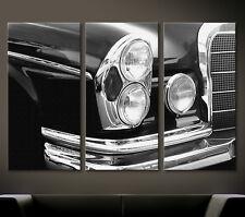 VINTAGE DETAILS MERCEDES BENZ W111 Leinwand Bild W108 W109 W112 Wandbild Deko XL