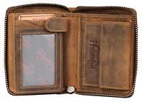 FFelsenfest Vintage Geldbörse Geldbeutel Börse Lederbörse Hochformat antikbraun