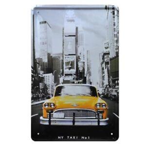 Vintage Tin Sign New York Poster Metal Painting Cafe Bar Pub Wall Decor Art