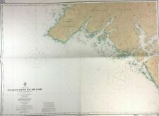 KYUQUOT Sound CAPE COOK Nautical CHART VANCOUVER ISLAND British Columbia Vtg MAP