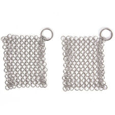 StainlessSteel Cast Iron Cleaner Chainmail Scrubber Home Cookware Kitchen ToolHK