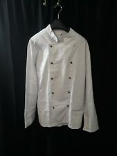 Used Austrian Military Surplus Cook Shirt Button Up White See Description