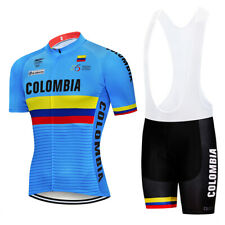 Colombia Team Retro Cycling Jersey bib shrots Cycling Short Sleeve Jersey
