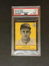 1941 Goudey #16 George Case Yellow Background PSA 5 MC Washington Senators POP 3