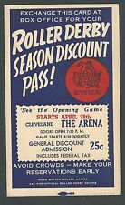 1942 PC CHICAGO IL ROLLER DERBY SEASON DISCOUNT PASS BUY EARLY