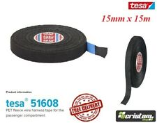 TESA TAPE 51608 15mm x 15m CABLE ROLL ADHESIVE CLOTH FABRIC WIRING LOOM HARNESS