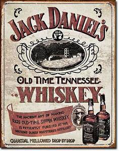 * J.Daniels Nostalgier Whiskey Werbung Poster Sign Deko Schild Bar Lounge 018*
