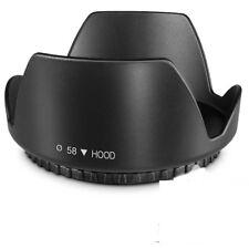 Lens Hood 58MM Tulip Petal for Canon SL3 T6 T7i kit/w EF-S 18-55mm lens