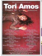 TORI AMOS Plugged'98 tour small UK magazine ADVERT / clipping 5x4 inches